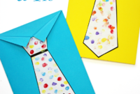 Father's Day Tie Card (With Free Printable Tie Template inside Fathers Day Card Template