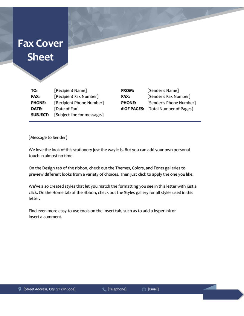 Fax Cover Sheet Template Word 2010 – Atlantaauctionco In Fax Cover Sheet Template Word 2010