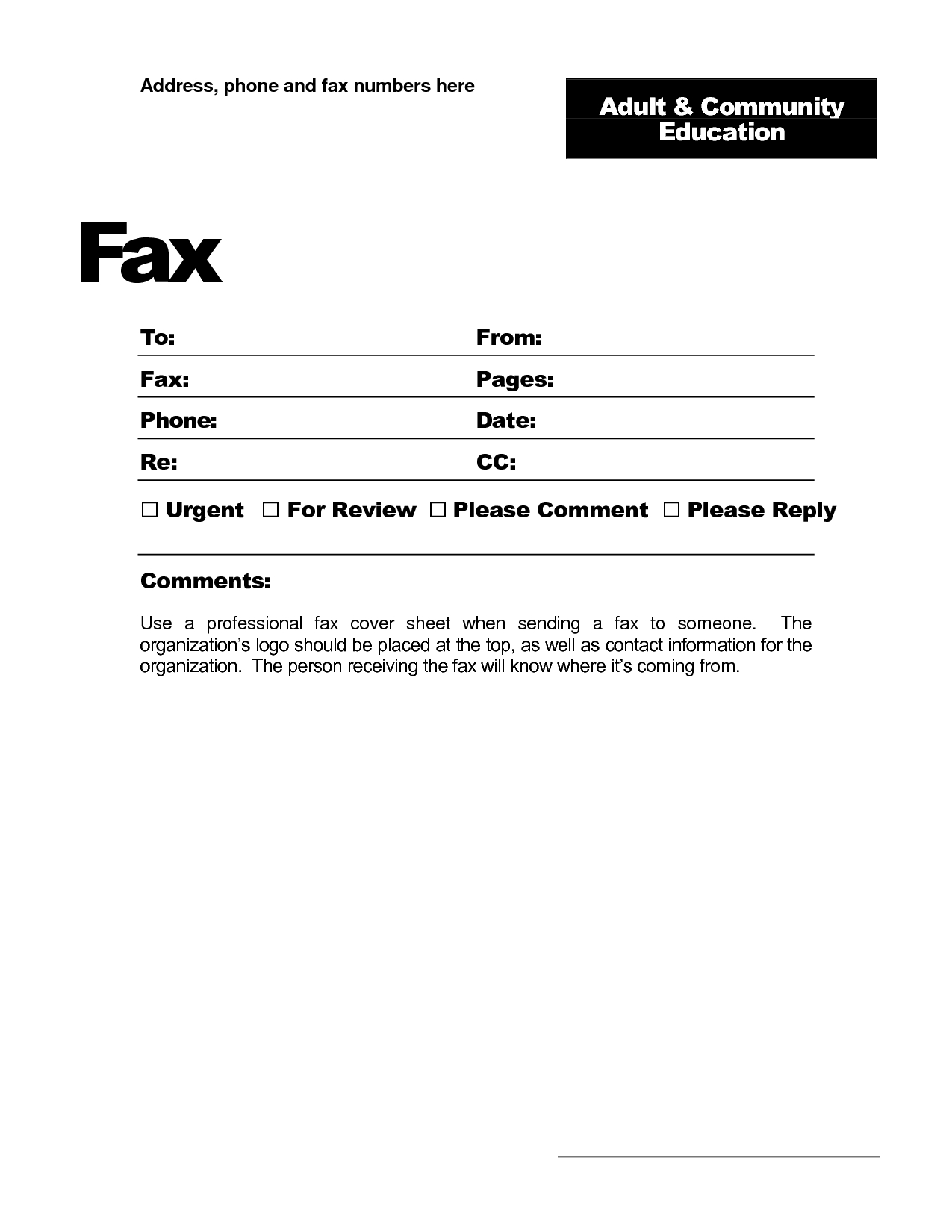 Fax Template Word 2010 - Free Download In Fax Template Word 2010