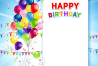 Festive Happy Birthday Card Template with Free Happy Birthday Banner Templates Download