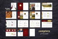 Fine Wine Vol. 1 Brochure #adobe#indesign#compatible#ready in Wine Brochure Template