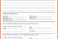 Fire Incident Report Form Doc Samples Format Sample Word intended for Injury Report Form Template