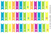 First Birthday For Two! (And A Free Diy Bunting Printable within Free Printable Happy Birthday Banner Templates