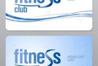 Fitness Club Membership Card Design Template. inside Template For Membership Cards