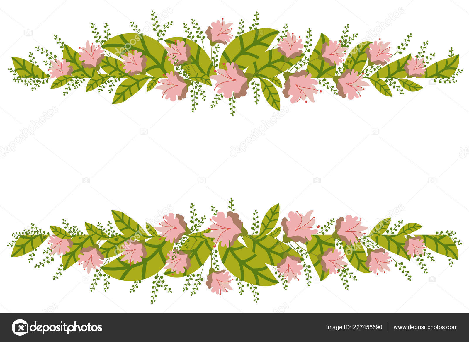Floral Banner Isolated White Background Flower Composition Inside Save The Date Banner Template