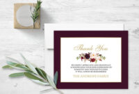 Floral Sympathy Thank You Card Memorial Service Printable Template Obituary  Service Printed Or Diy Cards Funeral Acknowledgement Digital with regard to Sympathy Thank You Card Template