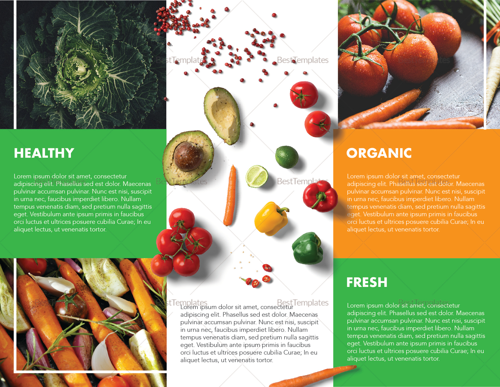 Food Brochure Template Intended For Nutrition Brochure For Nutrition Brochure Template