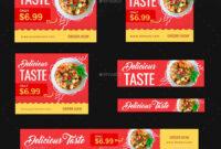 Food Web Banner Set #web, #food, #set, #banner | Design pertaining to Food Banner Template