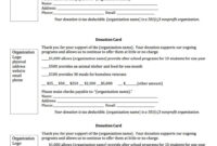 Form Donation Template Excel Html Pledge Doc Word Charitable pertaining to Donation Card Template Free