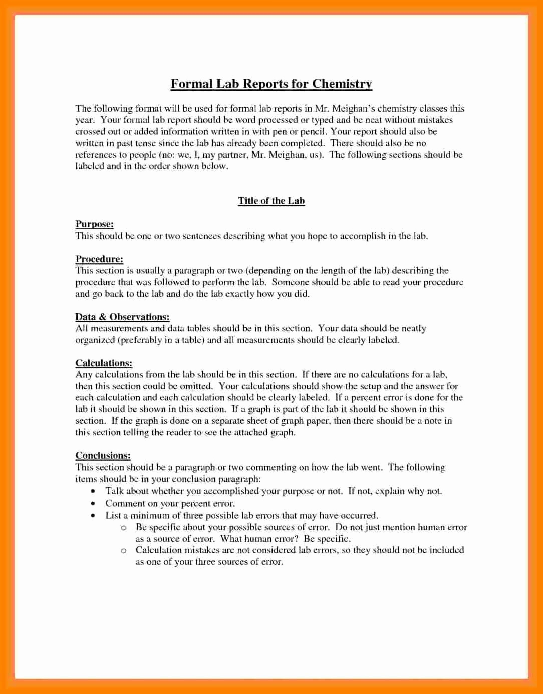 Formal Lab Report Example Best 5 Formal Lab Write Up Within Formal Lab Report Template