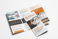 Free 3-Fold Brochure Template For Photoshop & Illustrator inside One Sided Brochure Template