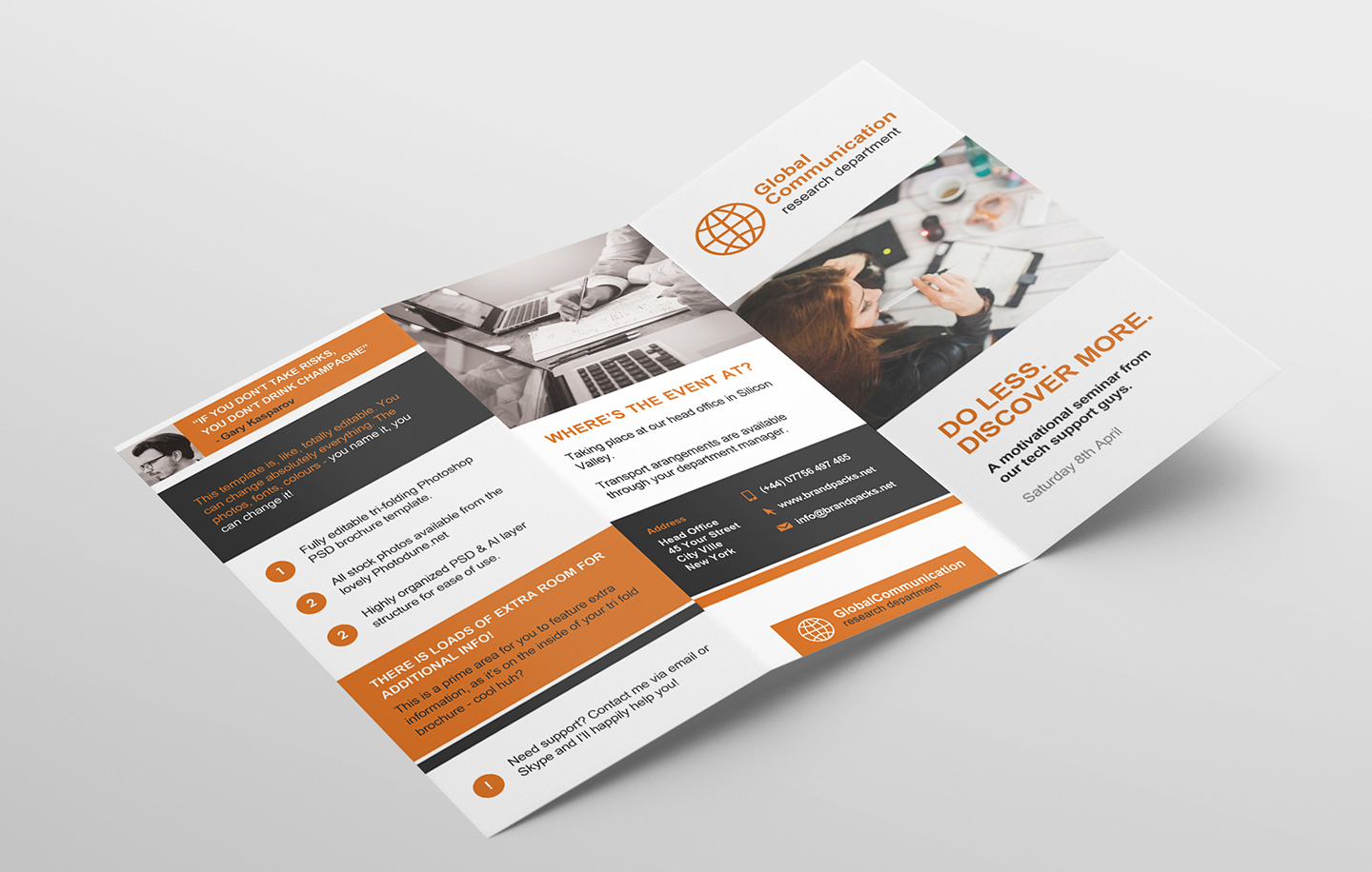 Free 3 Fold Brochure Template For Photoshop & Illustrator Pertaining To Brochure 3 Fold Template Psd