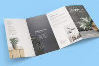 Free 4-Panel Quad-Fold Brochure Mockup Psd – Good Mockups with Brochure 4 Fold Template