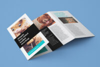 Free Accordion 4-Fold Brochure / Leaflet Mockup Psd intended for Quad Fold Brochure Template