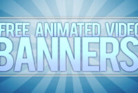 **free** Animated Video Banner Template! [Adobe After Effects] regarding Animated Banner Template