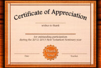 Free Appreciation Certificate Templates Supplier Contract Within Best Teacher Certificate Templates Free