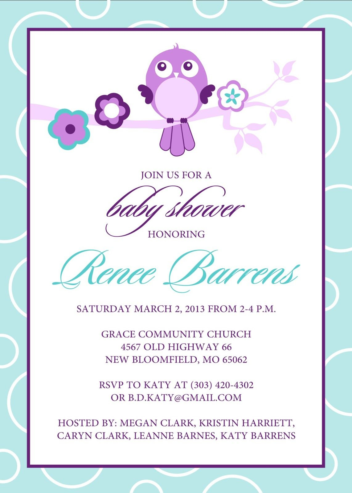 Free Baby Shower Invitation Templates Microsoft Word (9 In Free Baby Shower Invitation Templates Microsoft Word