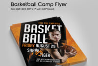 Free Basketball Camp Flyer In Psd | Free Psd Templates pertaining to Basketball Camp Brochure Template