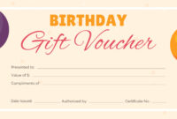 Free Birthday Gift Certificate Templates Certificate Regarding Graduation Gift Certificate Template Free
