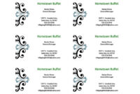 Free Blank Business Card Templates For Microsoft Word for Ms Word Business Card Template