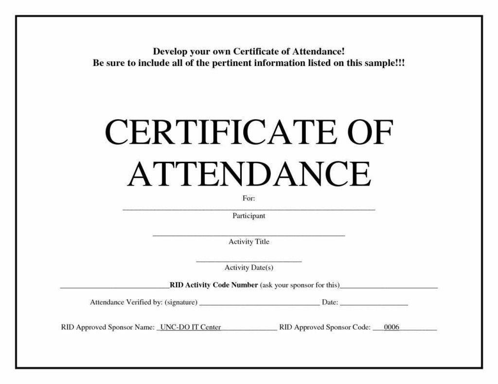 Free Blank Certificate Templates | Blank Certificate Within Attendance Certificate Template Word