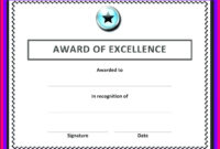 Free Blank Certificate Templates For Word | Business Letters For Award Of Excellence Certificate Template