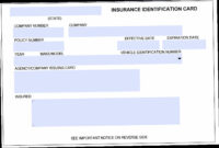 Free Blank Insurance Card Template The Five Common within Auto Insurance Id Card Template