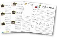Free Book Report Template | 123 Homeschool 4 Me regarding 1St Grade Book Report Template