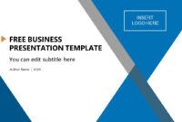 Free Business Presentation Template regarding Free Powerpoint Presentation Templates Downloads