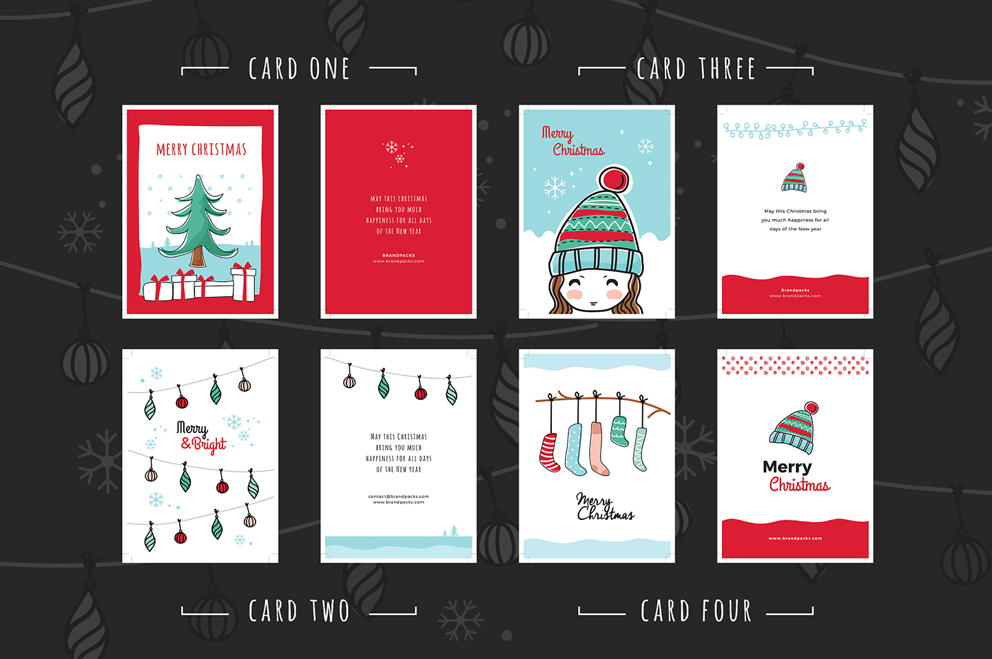 Free Christmas Card Templates For Photoshop & Illustrator With Adobe Illustrator Christmas Card Template