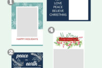 Free Christmas Card Templates - The Crazy Craft Lady for Print Your Own Christmas Cards Templates