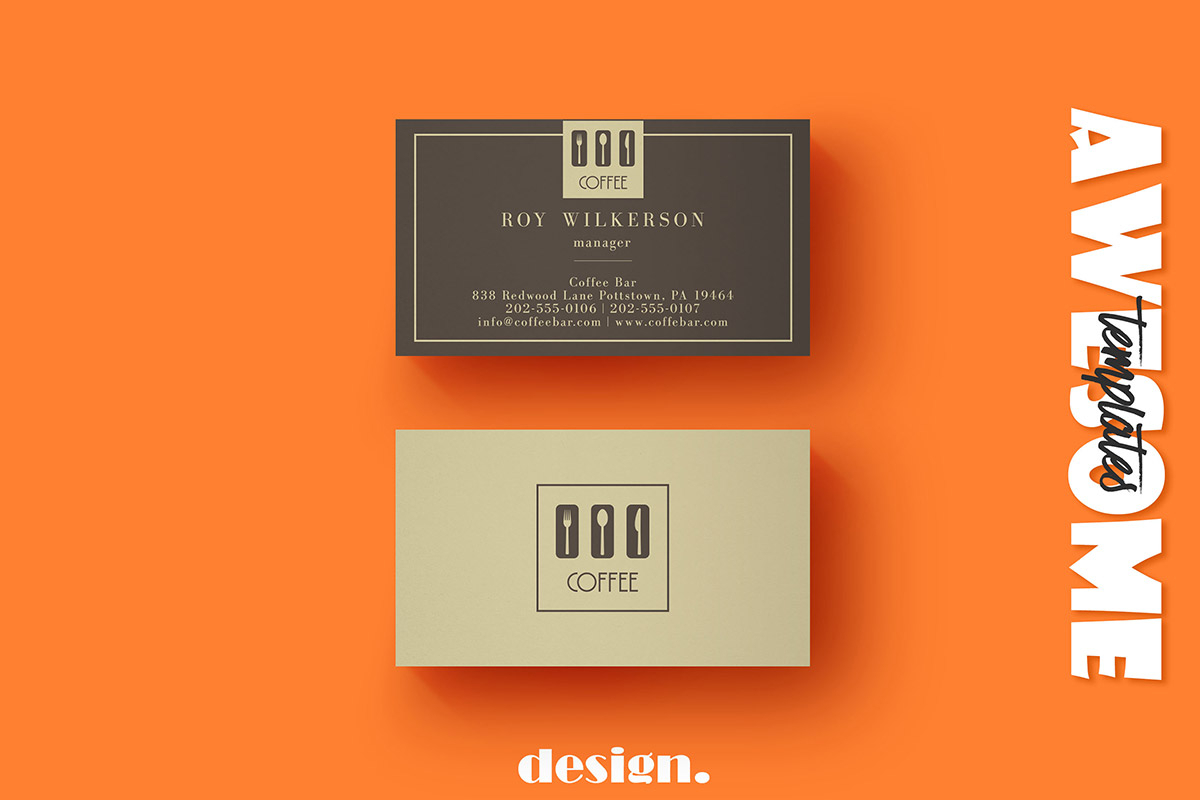 Free Coffee Business Card Template - Creativetacos For Coffee Business Card Template Free