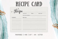 Free Cooking Recipe Card Template Rc2 – Creativetacos inside 4X6 Photo Card Template Free