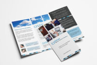 Free Corporate Trifold Brochure Template In Psd, Ai & Vector for 2 Fold Brochure Template Free