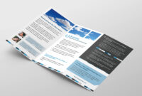 Free Corporate Trifold Brochure Template In Psd, Ai & Vector with Fancy Brochure Templates