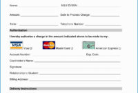 Free Credit Card Authorization Form Template Word Luxury throughout Credit Card Payment Slip Template