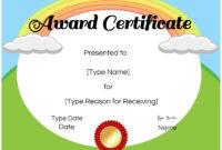 Free Custom Certificates For Kids   Customize Online & Print inside Free Kids Certificate Templates