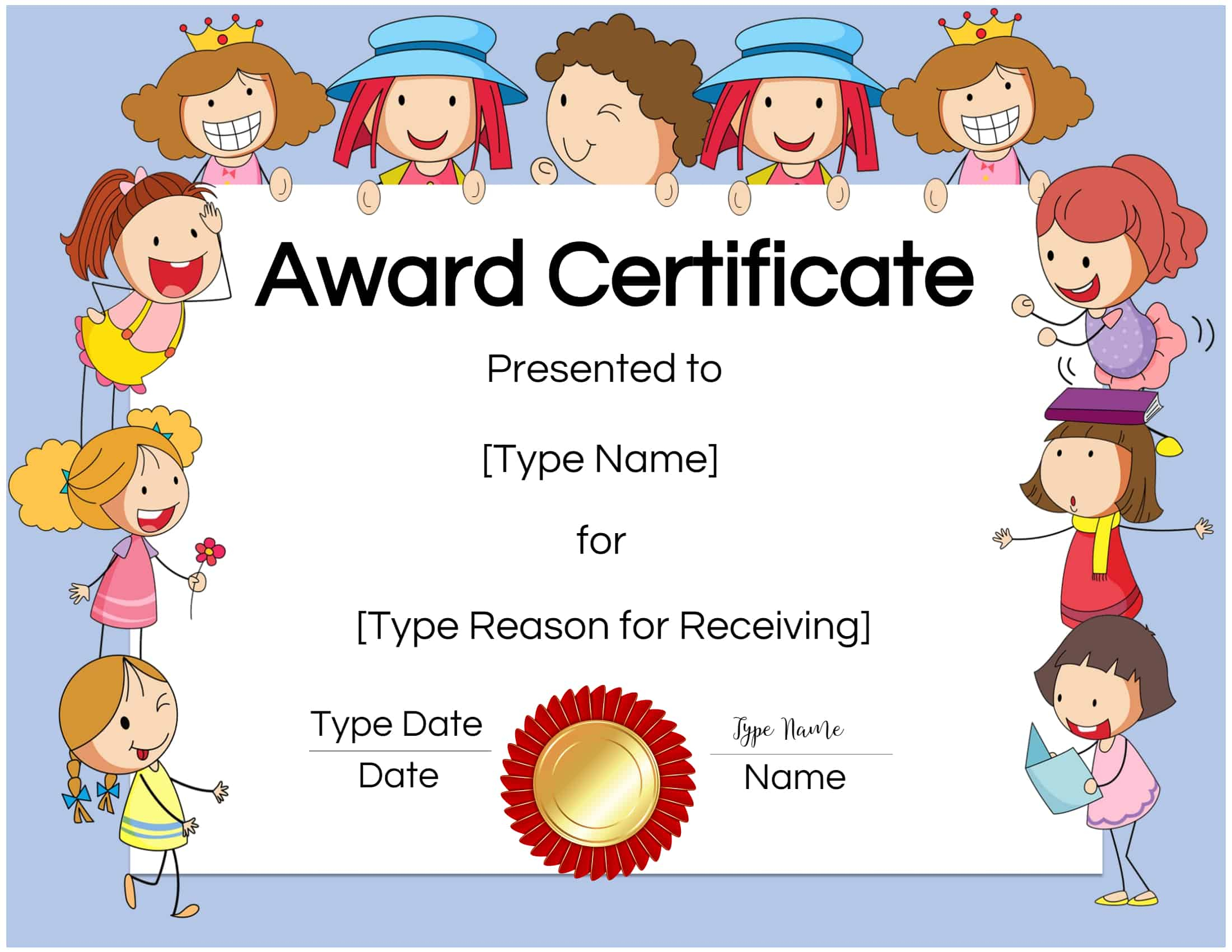 Free Custom Certificates For Kids | Customize Online & Print With Children's Certificate Template