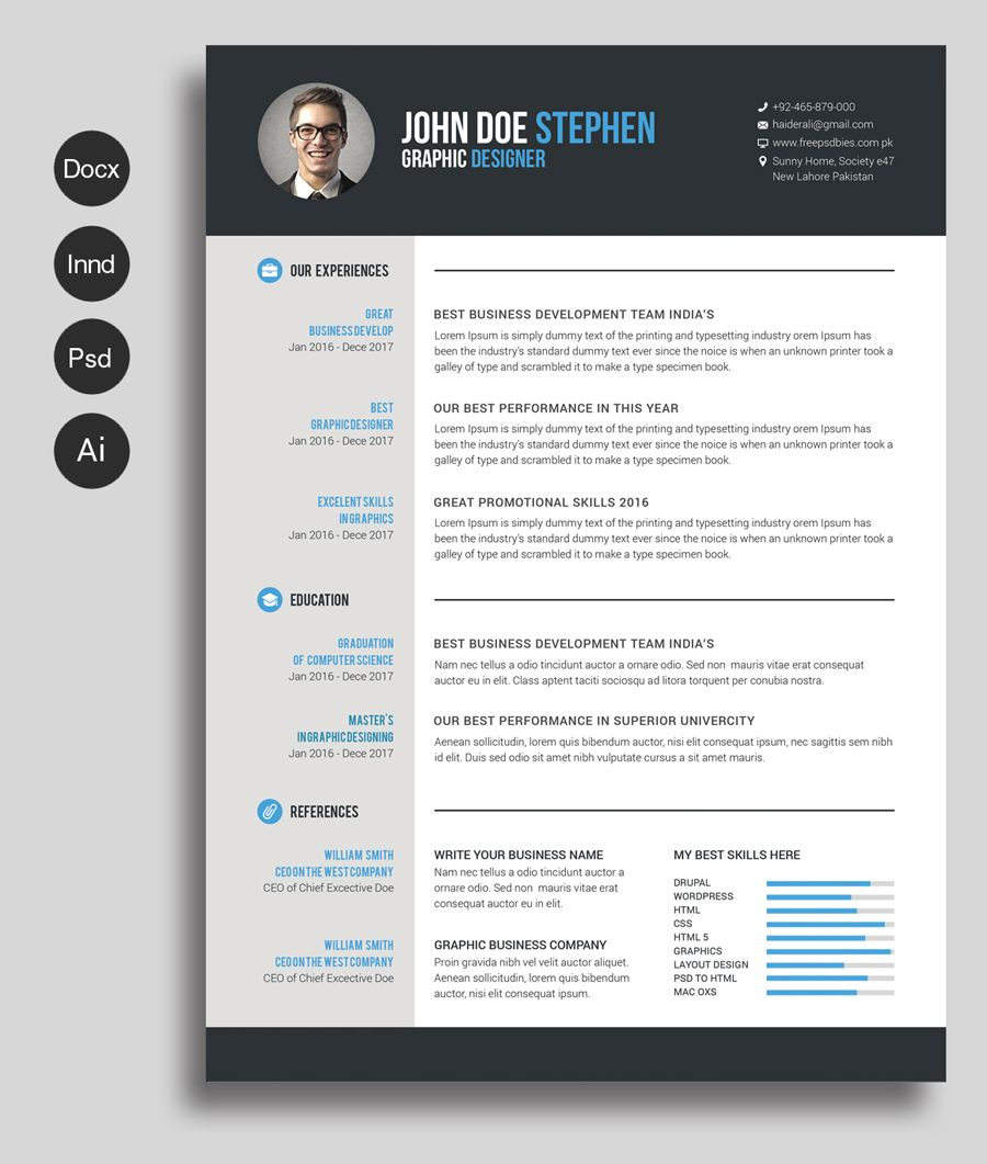 Free Cv Template | Free Bundles | Free Cv Template Word With Free Resume Template Microsoft Word