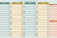 Free Daily Schedule Templates For Excel – Smartsheet regarding Cleaning Report Template