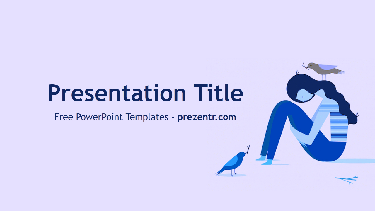 Free Depression Powerpoint Template - Prezentr Powerpoint With Depression Powerpoint Template