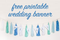 Free Diy Printable Wedding Banner intended for Diy Banner Template Free