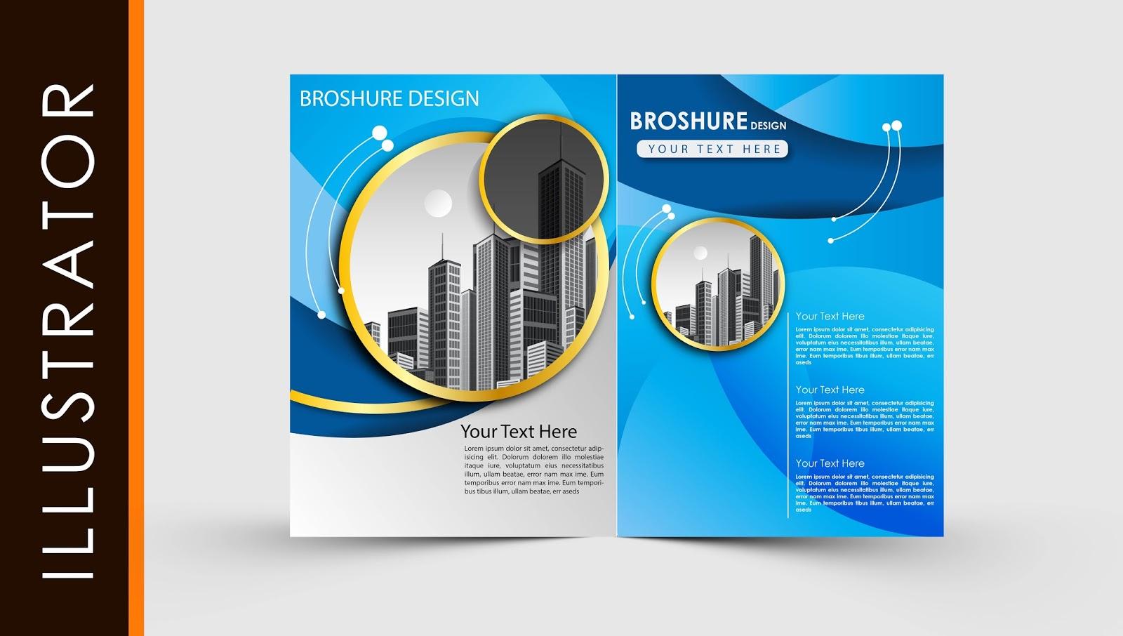 Free Download Adobe Illustrator Template Brochure Two Fold Throughout Adobe Illustrator Brochure Templates Free Download