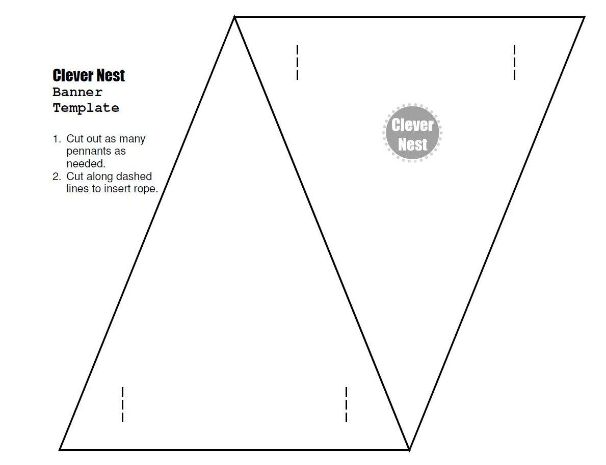 Free Downloadable Bunting Template. Yer Welcome :) | Free Regarding Free Triangle Banner Template
