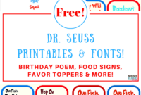 Free Dr. Seuss Printables & Fonts! pertaining to Dr Seuss Birthday Card Template