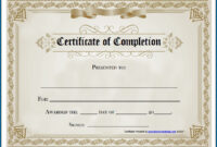 Free Editable Printable Certificate Of Completion #253 within Blank Certificate Of Achievement Template