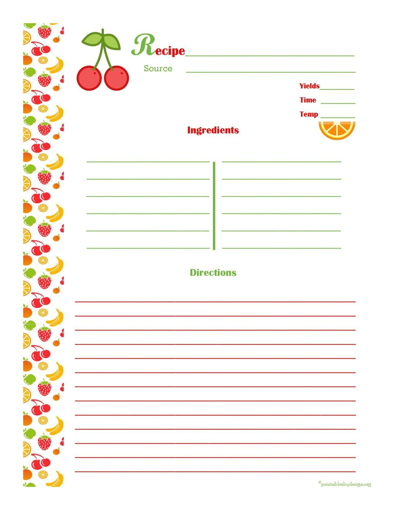 Free Editable Recipe Card Templates For Microsoft Word With Regard To Free Recipe Card Templates For Microsoft Word