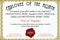 Free Employee Of The Month Certificate Template At throughout Employee Of The Month Certificate Templates