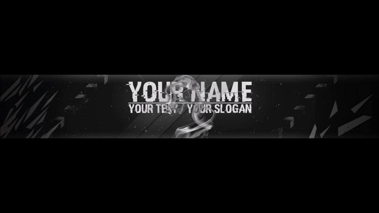 Free, Epic Youtube Banner / Channel Art Template - [Gimp And Photoshop] +  Download [Hacked Style] Within Youtube Banner Template Gimp