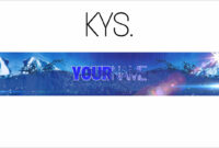 Free, Epic Youtube Banner/channel Art Template – [Gimp] + Download Pertaining To Gimp Youtube Banner Template